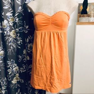 3/$10 // HOLLISTER Tie-Back Strapless Orange Top